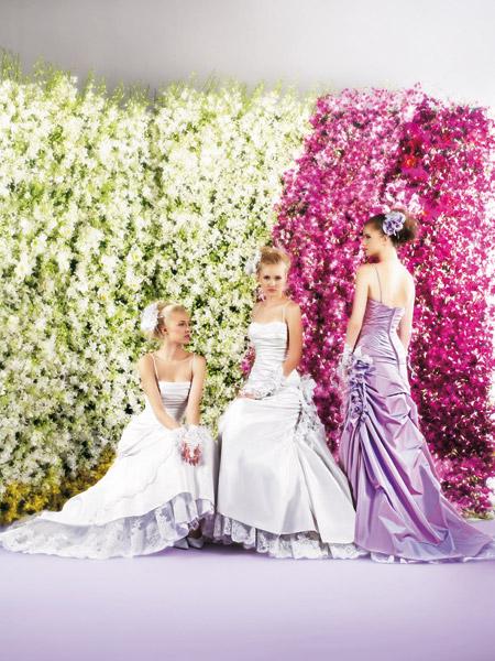 فساتين الزفاف بالالوان ولا اروع 17_0