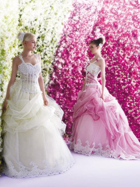 فساتين الزفاف بالالوان ولا اروع 7_0